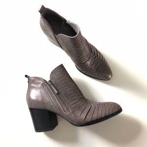 Donald J. Pliner Elton Hashmark Pewter Ankle Boots
